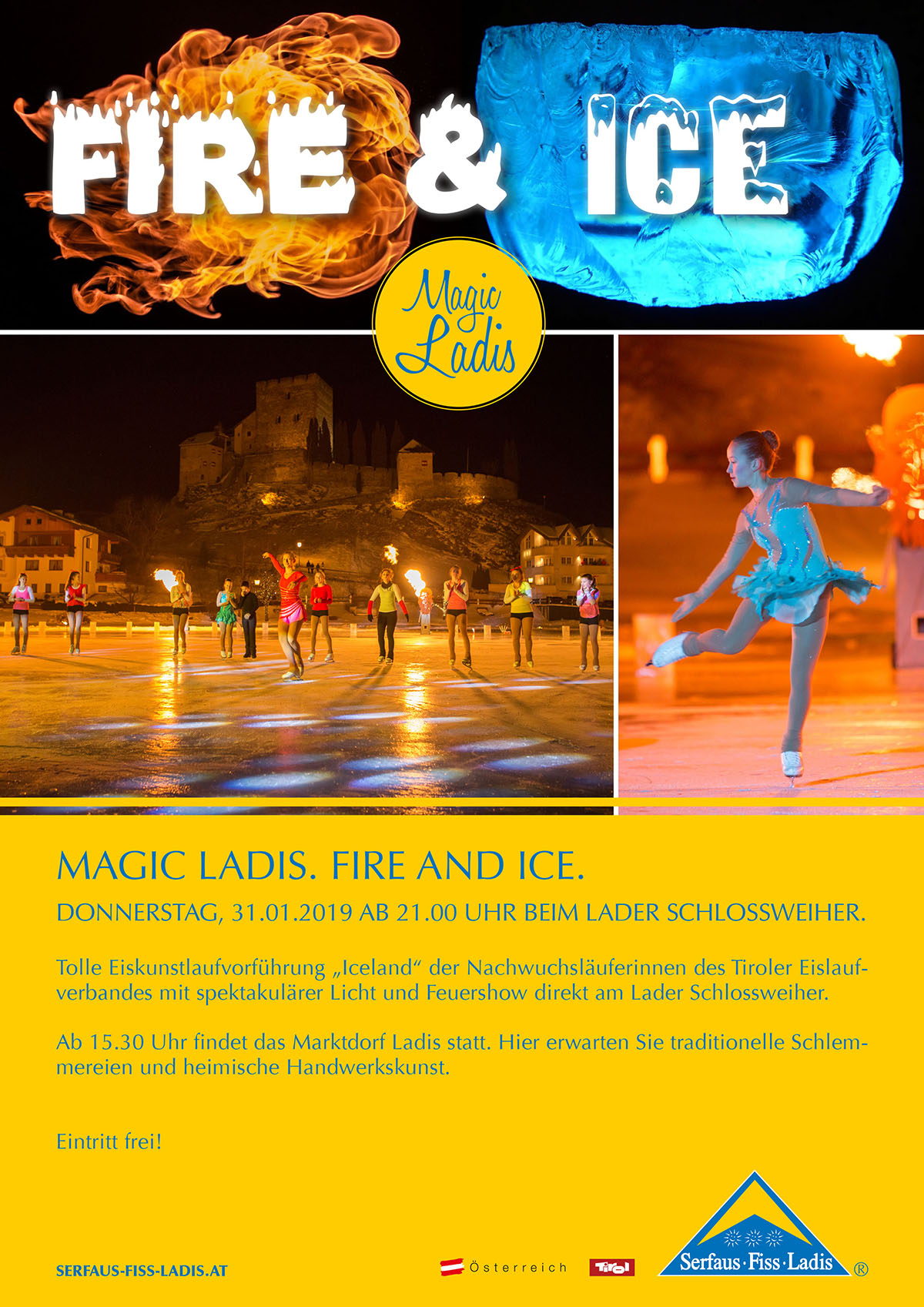 Magic Ladis: Fire And Ice @ Burgweiher Ladis | Ladis | Tirol | Österreich